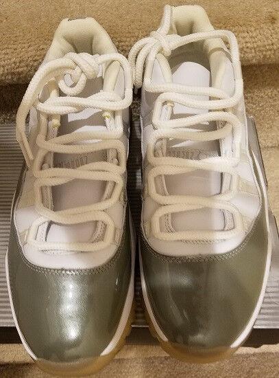 New 2018 Air Jordan 11 Low White Silver Size Women's 12 Men's 10.5