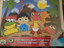 Red Dino and Friends 24 Piece Wooden Jigsaw Puzzle Ryan/'s World