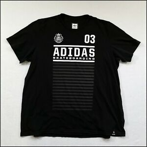 Adidas Skateboarding T-Shirt | XXL | Black/White | Rare