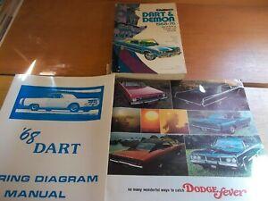 1968 Dodge Dart literature lot of 3, Chilton, Wiring ...