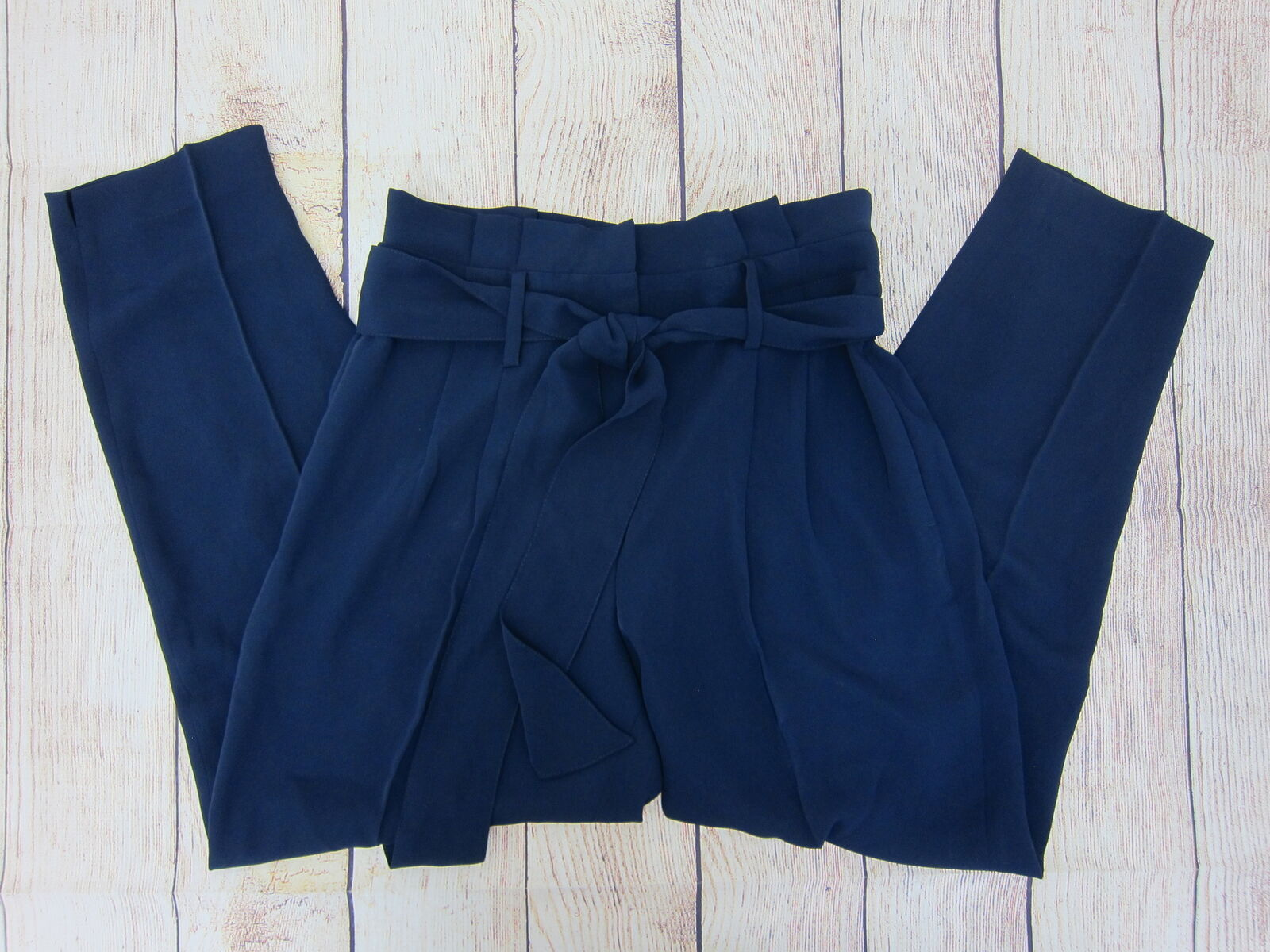 Boden Women's Melina Paperbag Pants Medium Navy  NWT