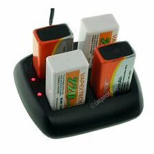 Intelligent Battery Charger for 1-4 PP3 8.4V (9V) NiCd NiMH batteries. UK seller