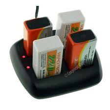 Inteligente Cargador de batería para 1-4 PP3 8.4V (9V) NiCd NiMH batteries. Reino Unido Vendedor