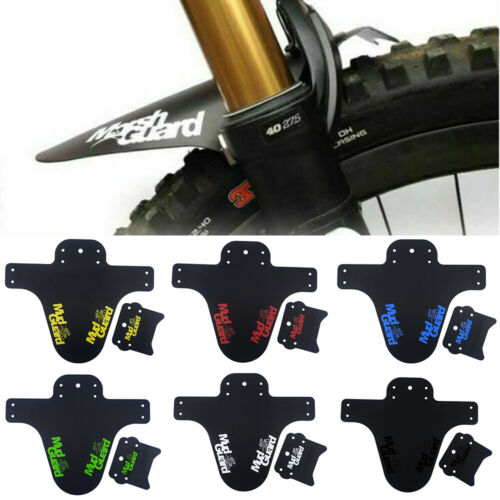 UK MTB Mud Guard Guard Set Mountain Bike Fender Bicycle Front Rear Tyre Mudguard