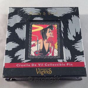 Disney Pin 101 Dalmatians Cruella De Vil Classy Cruel Villains Box