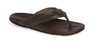 Olukai Mea Ola Charcoal//Dark Java Comfort Flip Flop Men/'s sizes 7-15 NIB!!!