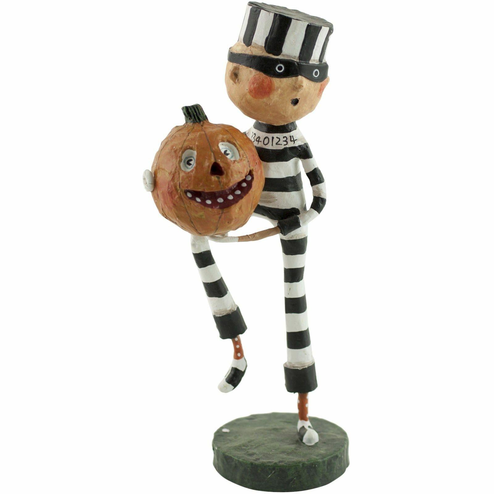 Lori Mitchell™ Piper's Pumpkin Ride Halloween Witch Girl Black Cat 20644