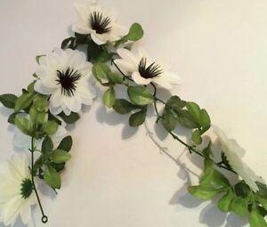 12 x Rose weiß//grün  mit Blattwerk Kunstblumen Seidenblumen