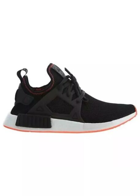 best service 96e90 fac0d NWB Adidas NMD_XR1 Mens BY9924 Black Solar Red Boost Knit Running Shoes  Size 9.5