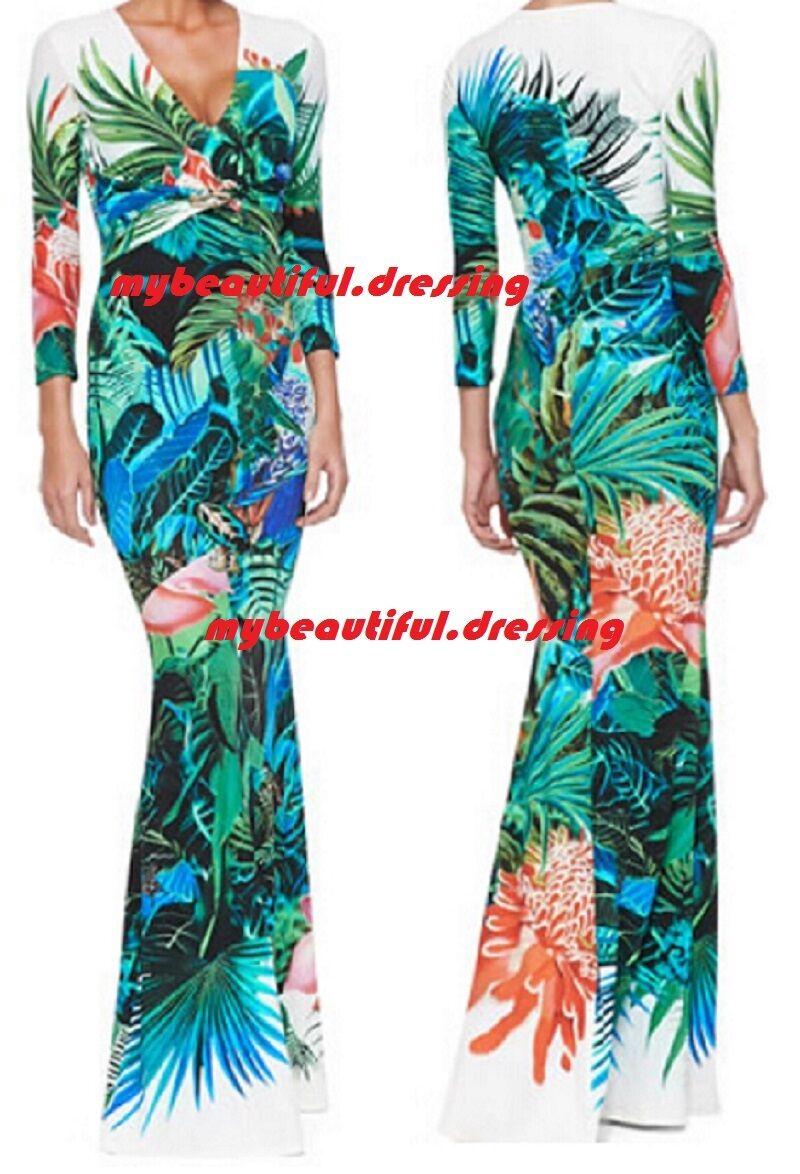 MW007858 - DESIGNER MULTICOLOUR JERSEY SILK MAXI DRESS (C)