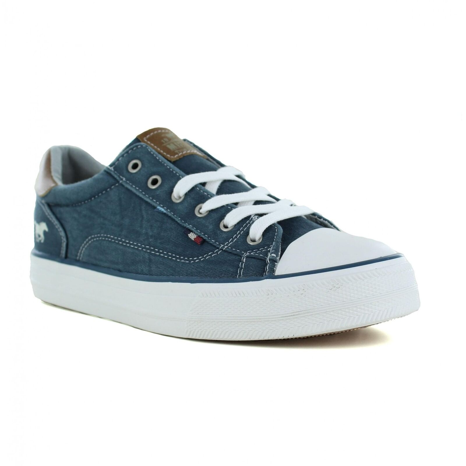 Mustang 1272-301-810 Damenschuhe Fashion Trainers - Petrol Blau