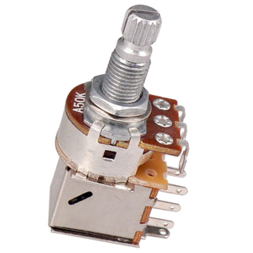 2 stücke Echte A50K Push Pull Topf Split Shaft Guitar Potentiometer 18mm