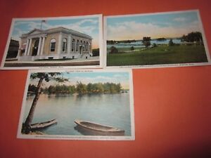 3-Vintage-Unused-Postcard-Webster-Mass-Themed-1