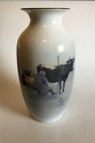 Vase, Royal Copenhagen Gulvvase af Porcelæn med..., Royal