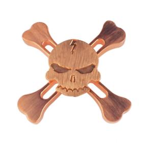 100 copper skull fidget hand tri spinner finger desk toy edc