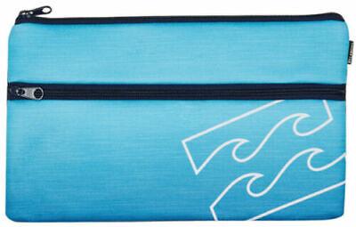 NWT Billabong Jumbo Already Neoprene Twin Compartment Pencil Case RRP $19.99.