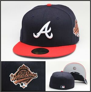 New Era Atlanta Braves Fitted Hat 1995 World Series (BRONZE ... 6adae9108c62