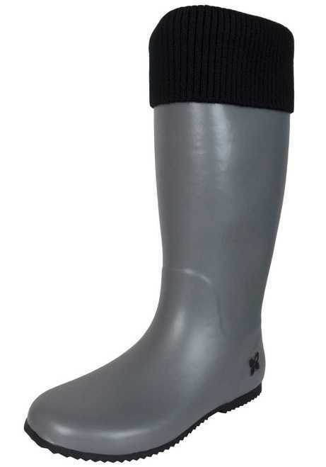 Butterfly Twists Ladies Foldable Rain Grey Festival Wellies Wellington Boots