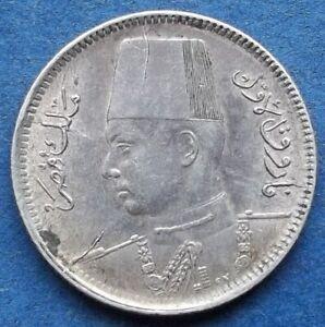 EGYPT-silver-2-piastres-AH1356-1937-KM-365-Farouk-I-Edelweiss-Coins