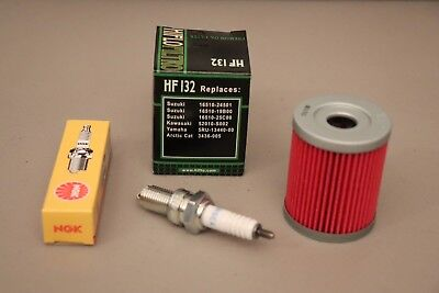 Oil Filter KSF250 KSF 250 Mojave 1987 88-04 Kawasaki Tune up kit Spark Plug