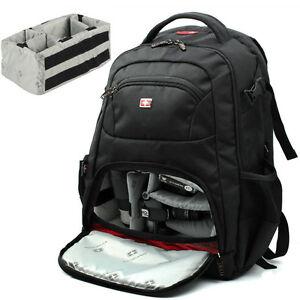 SWISS GEAR DSLR Camera Backpack Bag Padded For Canon Nikon Sony ...