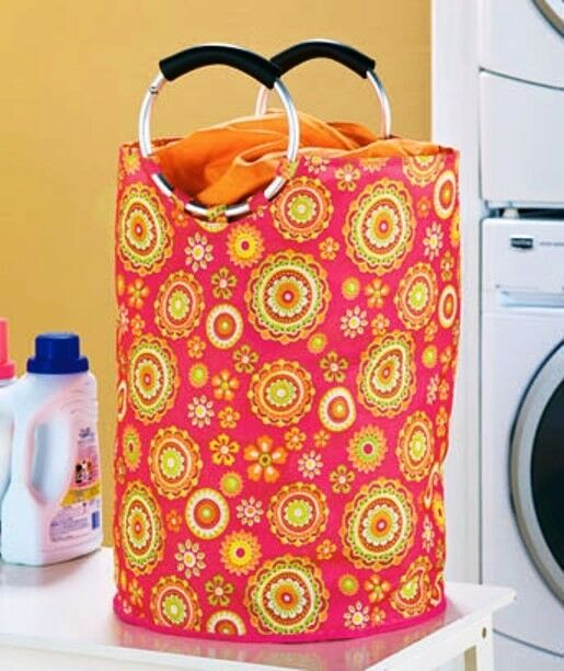 Jumbo Handled Hampers Laundry Floral Circles.U will like it