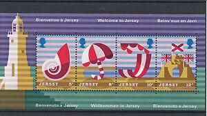 Jersey-1975-MNH-Jersey-Tourism-SG-MS128-Miniature-Sheet-Beach-Parasol-Stamps