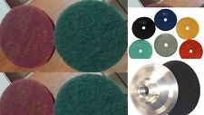 "5"" polishing pad 9+1 granite concrete 6 burnishing pad metal iron rust removal"