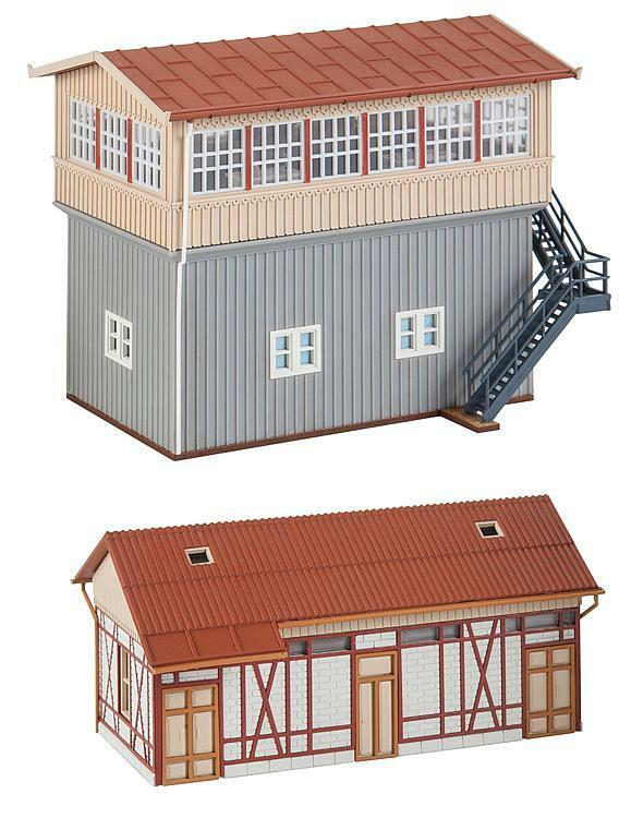 Faller 120113 H0 KIT Railway Control Tower Calw South with Goods Shed