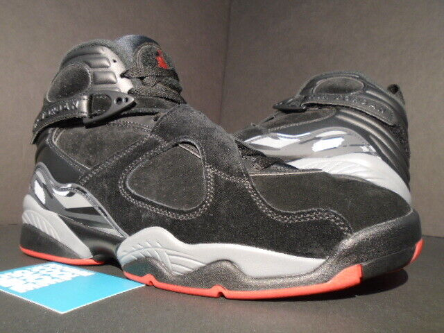 JORDAN VIII 8 RETRO NIKE AIR ALTERNATE PLAYOFF criado Negro Rojo gris 305381-022 9