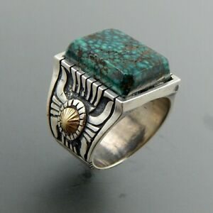 Wholesale-Handmade-925-Silver-Turquoise-Ring-Women-Men-Vintage-Jewelry-Size-6-12