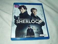 Sherlock: Season Three (BLU-RAY, 2014) Benedict Cumberbatch Martin Freeman BBC 3