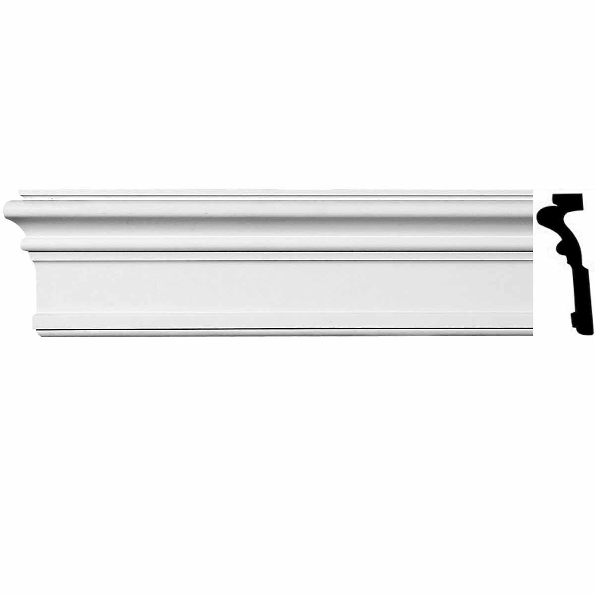 Renovator's Supply Crown Molding Urethane Somerset Simple Design 5 Pieces Total