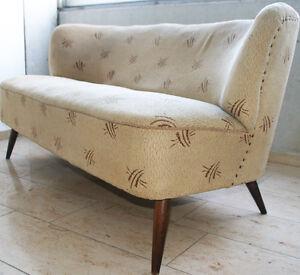 50er jahre vintage sofa cocktailsofa nierentisch 3er couch daybed cocktailsessel ebay. Black Bedroom Furniture Sets. Home Design Ideas