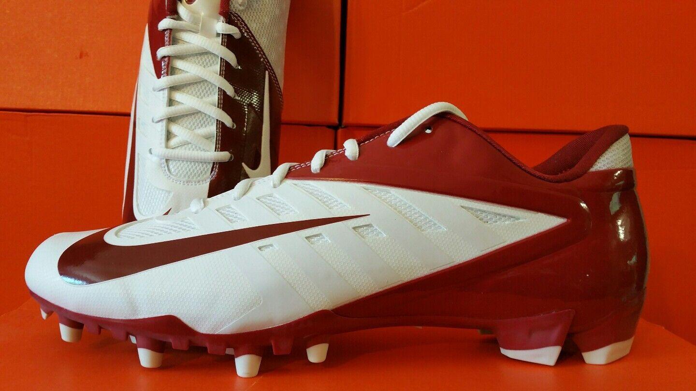 Nike vapor - td niedrige td - aus fußball stollen weiße / kardinal (rot) in verschiedenen größen 08b49c