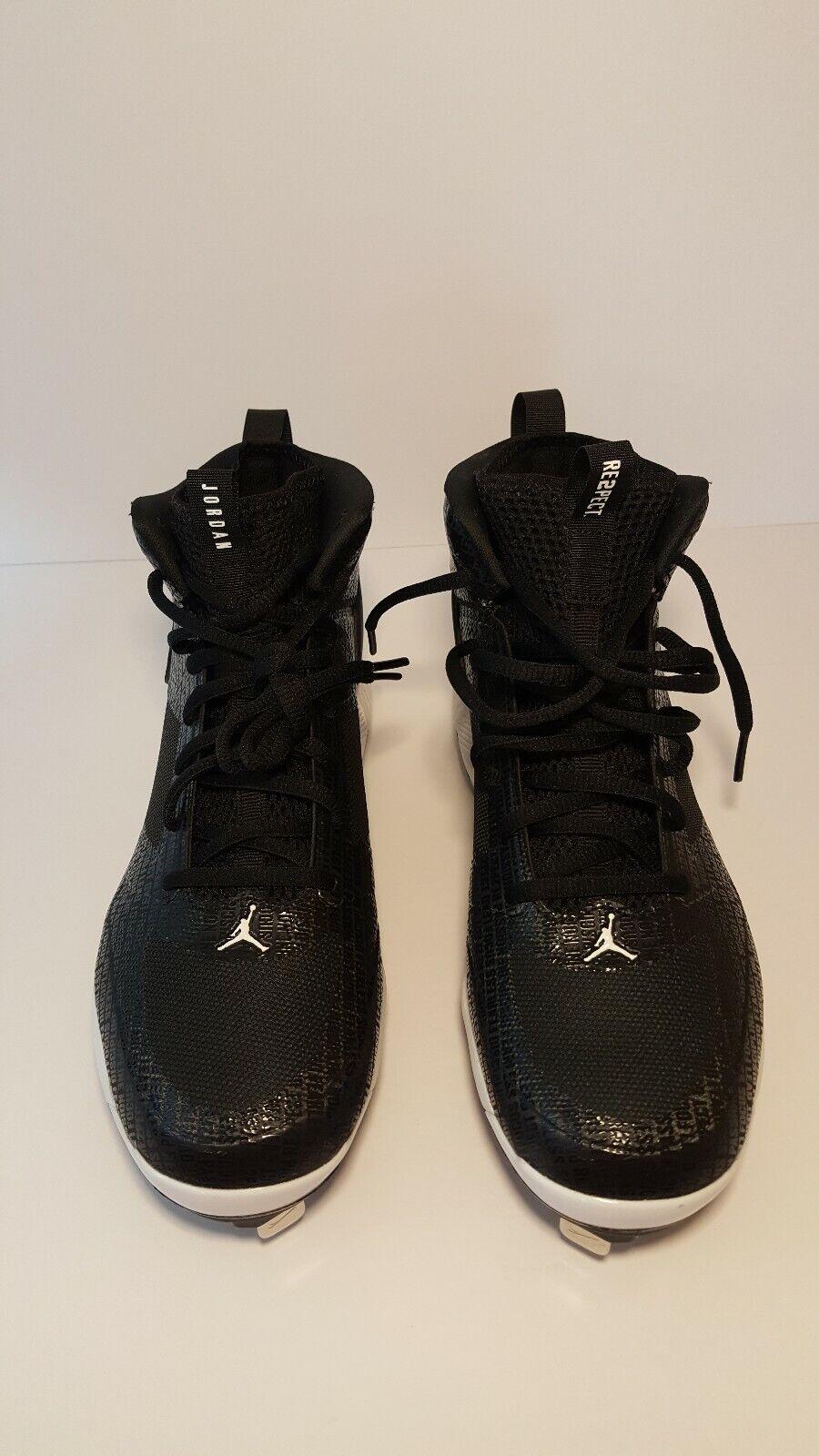 New Mens Nike Jordan Jeter Clutch Black Baseball Cleats AO2914 002 SZ 8