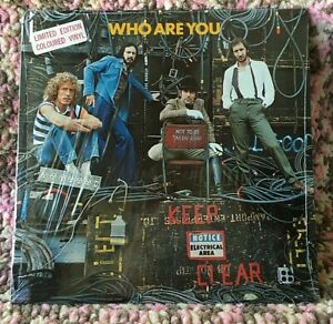 THE WHO VINYL who are you LP SEALED LTD EDT COLOURED VINYL music must change 905