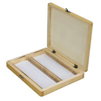 Amscope Ps100-wb Microscope Slide Wooden Box Holding 100 Piece Slides on sale