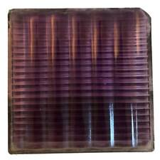 Antique American Luxfer Solarized Purple Ribbed Glass Window Tile c. 1900