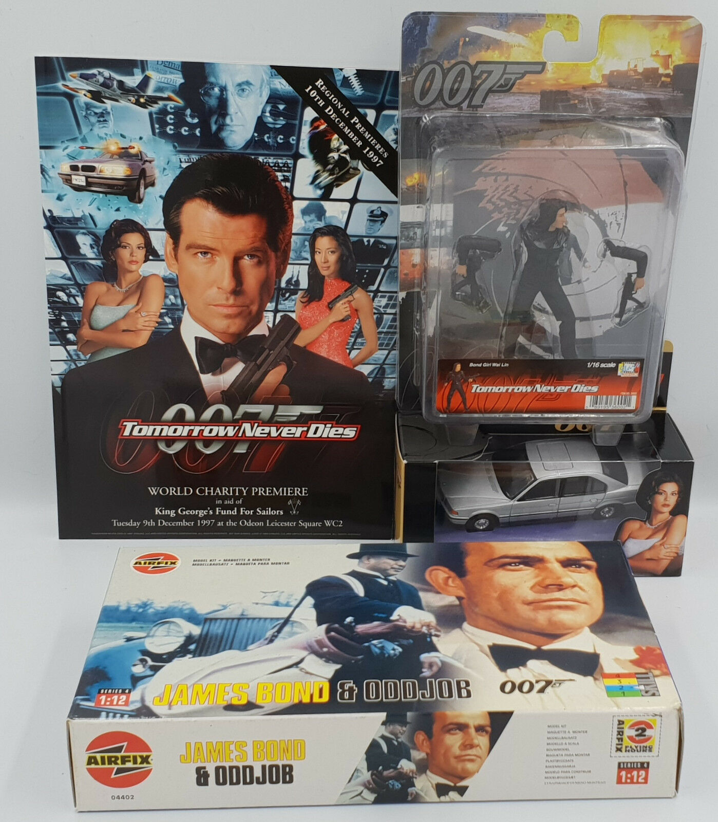 James BOND: Wai LIN, BMW 750I, Odd Job, James Bond, Pellicola Premiere progamme Set