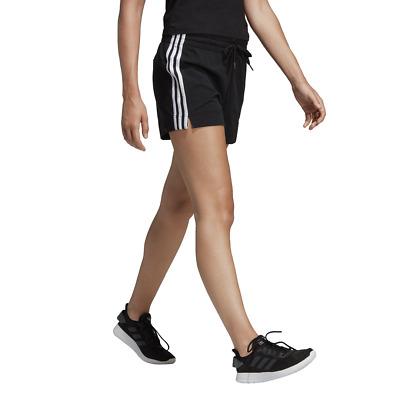 actividad Crítico marxista  Adidas Mujer Pantalones Cortos Atletismo Entrenamiento Essentials 3 Rayas  Negro | eBay