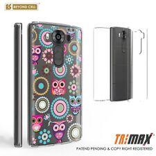 Beyond Cell Tri Max®LG V10 Case, Ultra Slim 360°Full Body Cover-Owls