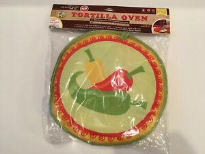 "La Tortilla Oven 10/"" Insulated Tortilla Warmer//Microwave Fabric Pouch Steamer"