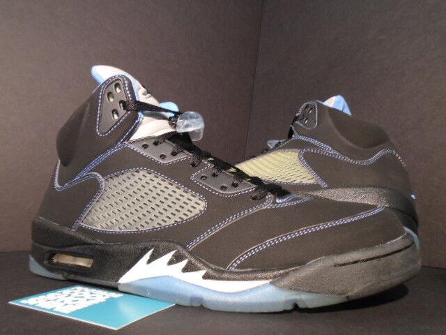 Nike Air Jordan Negro V 5 Retro Ls Negro Jordan Universidad Azul Plata Blanco 314259041 Ds 12 d31e42