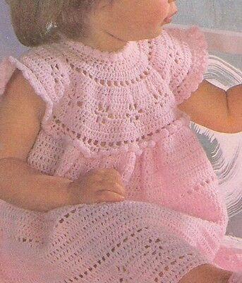 Vestido de fiesta Cb44 hermoso patrón de ganchillo-Bebé Niñas y Zapatos 3 meses - 2yrs