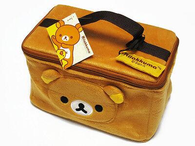 Rilakkuma Brown Cosmetic Bag Accessory Plush Case NWT