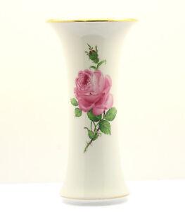 Meissen-Trichtervase-Pfeifferzeit-1-Wahl-mit-beidseitig-Blumen-Rosen-Gold-Vase