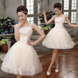 Halterneck-Evening-Prom-Party-Club-Dresses-Bridesmaid-Short-Skirt-Lace-Up-Q317R