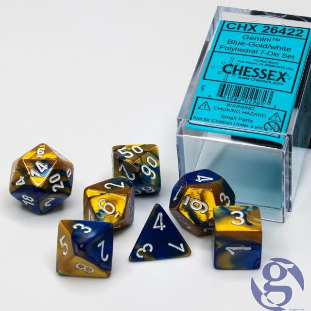 Gemini Blue-Gold/white Polyhedral 7