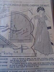 """PATRON ORIGINAL POUR LA POUPEE """" BLEUETTE """" CHEMISE DE NUIT DECEMBRE 1936 6wZGtE56-09103915-527423657"""